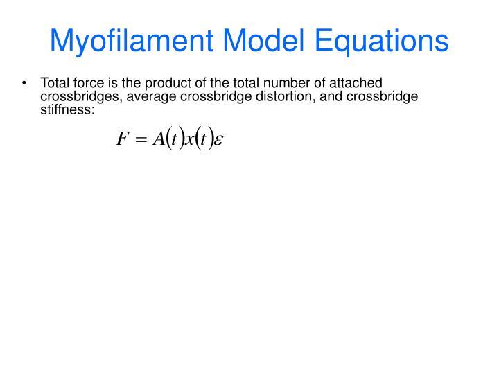 Myofilament Model Equations