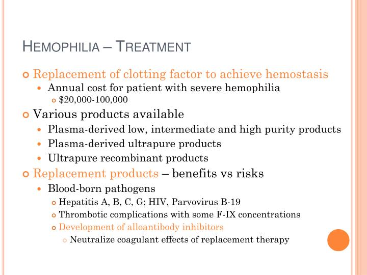 Hemophilia – Treatment