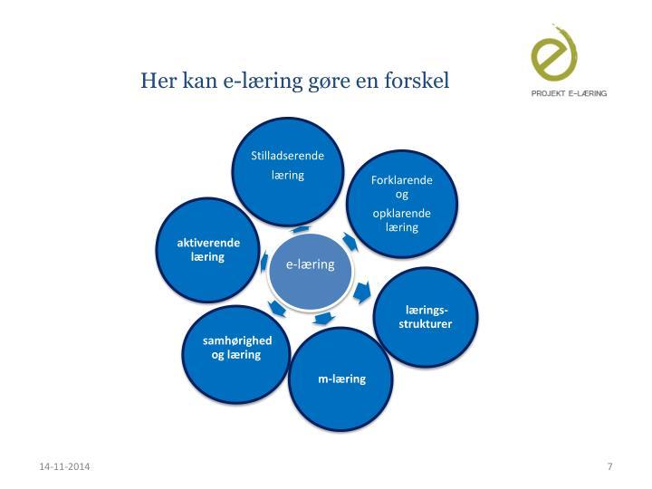 Her kan e-læring gøre en forskel
