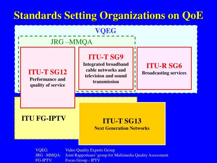 Standards Setting Organizations on QoE