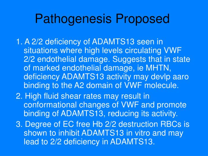 Pathogenesis Proposed