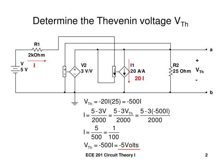 Determine the thevenin voltage v th