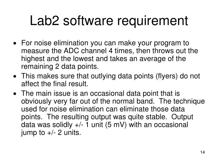 Lab2 software requirement