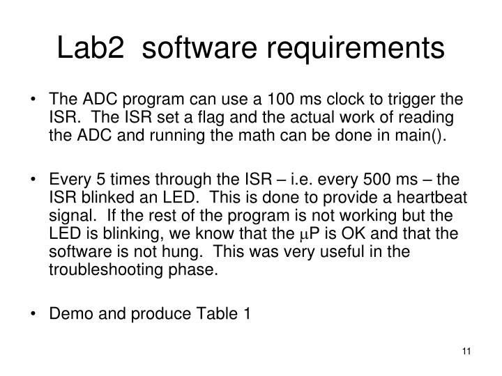 Lab2  software requirements