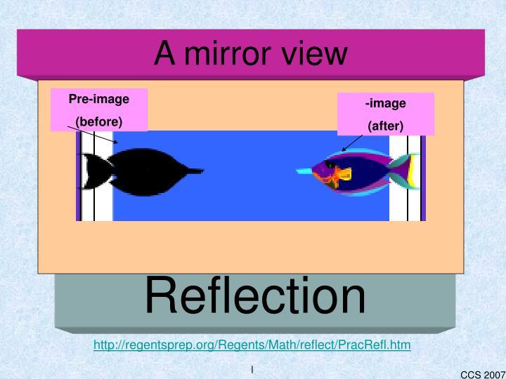 A mirror view