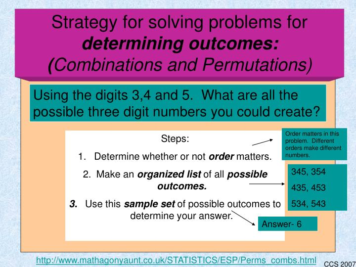 Strategy for solving problems for