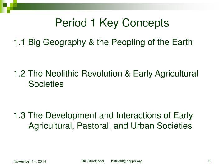 Period 1 Key Concepts