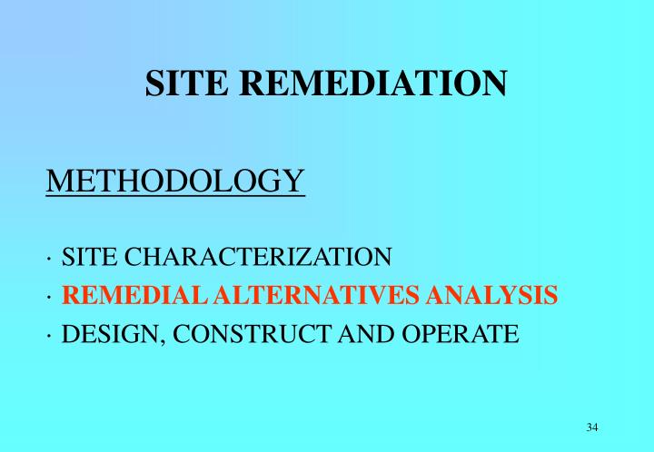 SITE REMEDIATION