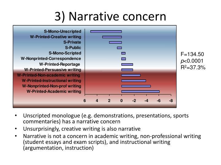 3) Narrative concern