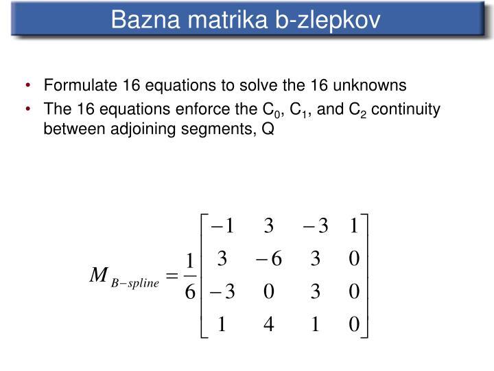 Bazna matrika b-zlepkov