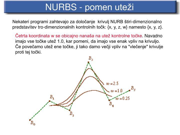 NURBS - pomen uteži