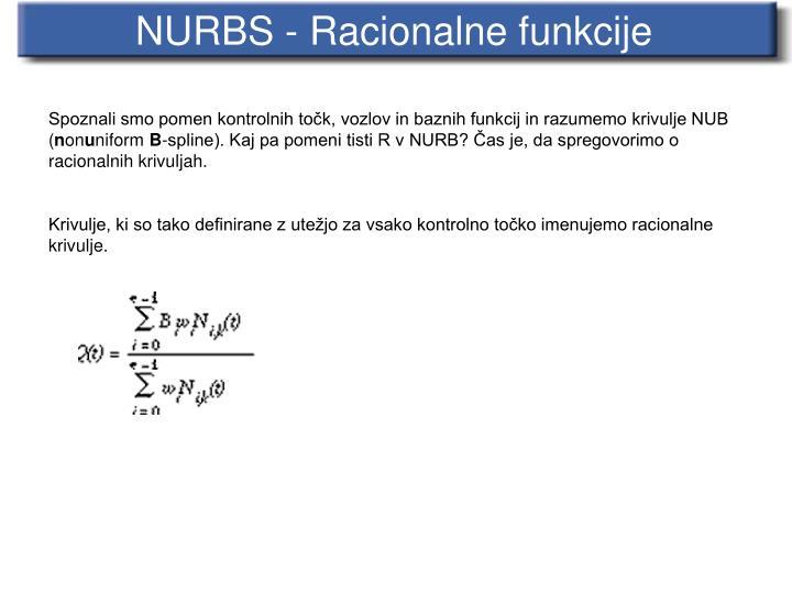 NURBS - Racionalne funkcije