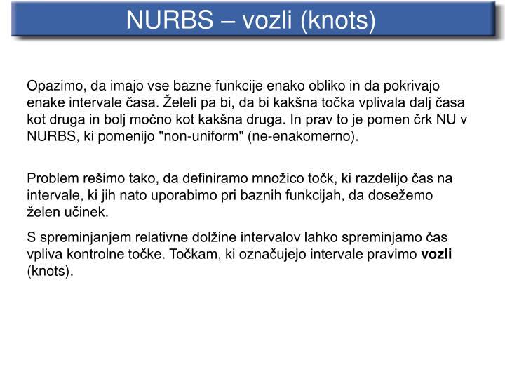 NURBS – vozli (knots)