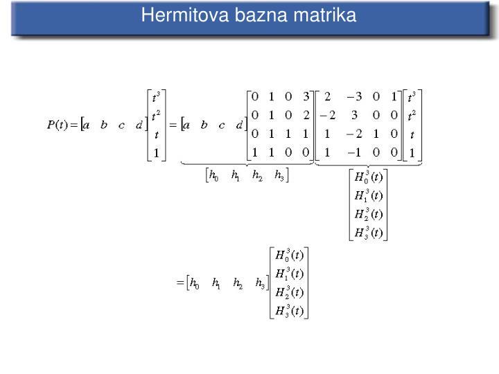 Hermitova bazna matrika