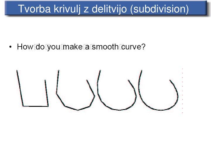 Tvorba krivulj z delitvijo (subdivision)
