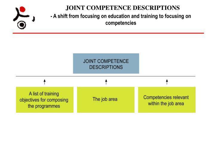 JOINT COMPETENCE DESCRIPTIONS