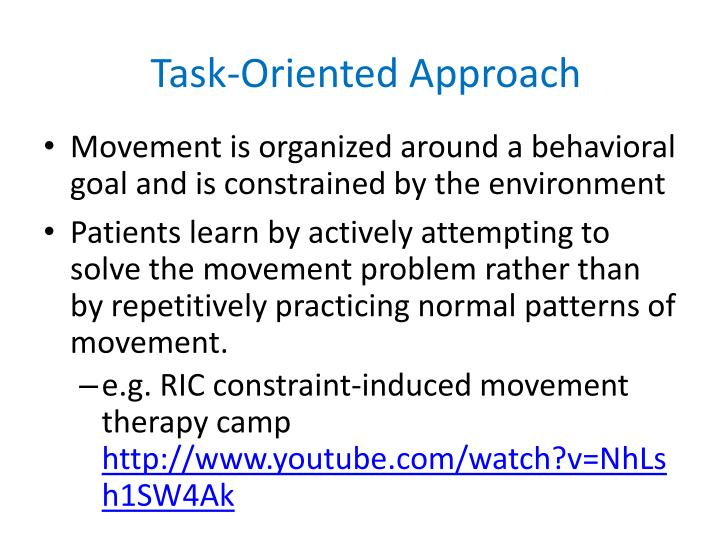 Task-Oriented Approach