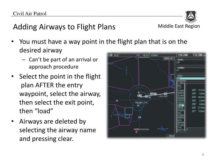 Adding Airways to Flight Plans