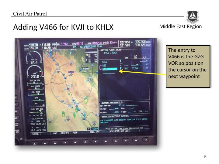 Adding V466 for KVJI to KHLX