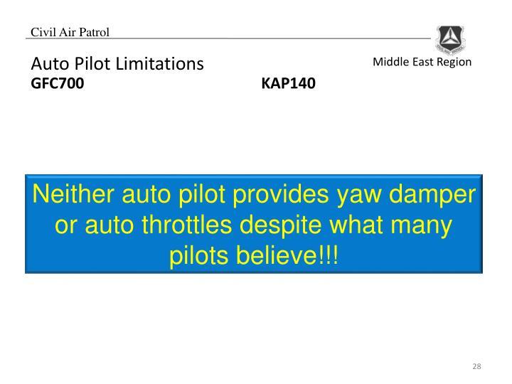 Auto Pilot Limitations