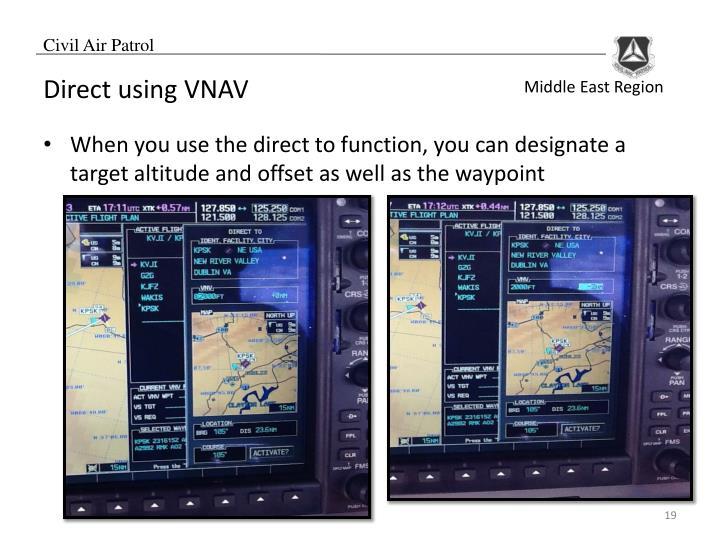 Direct using VNAV