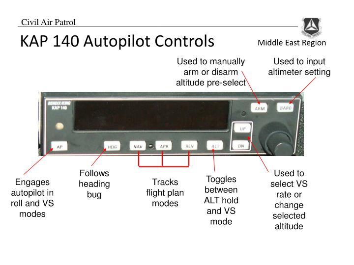 KAP 140 Autopilot Controls