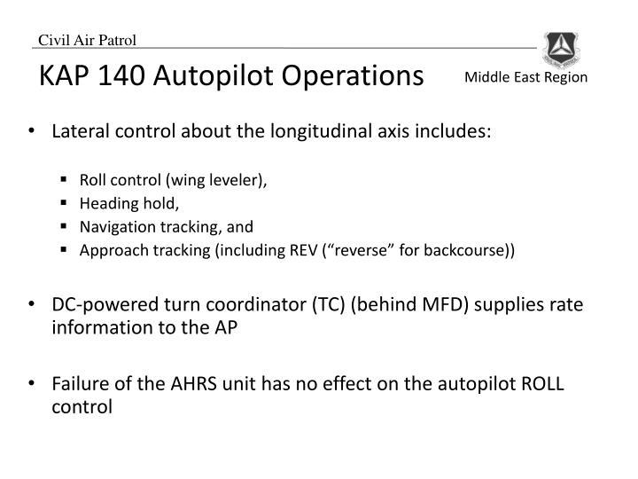 KAP 140 Autopilot Operations