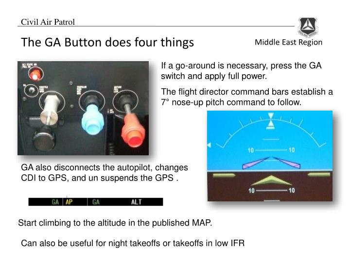 The flight director command bars establish a 7
