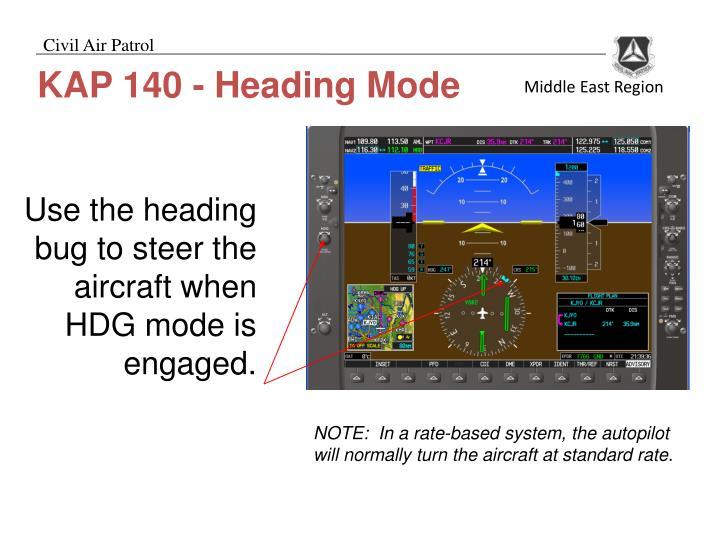 KAP 140 - Heading Mode