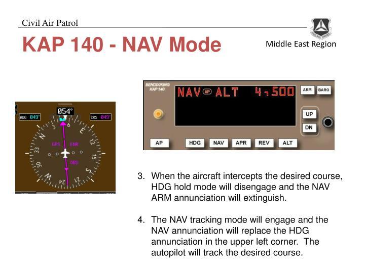 KAP 140 - NAV Mode