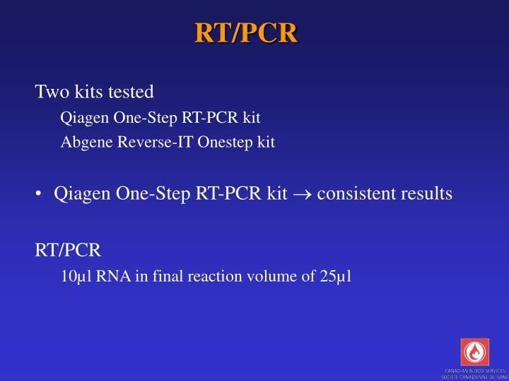 RT/PCR