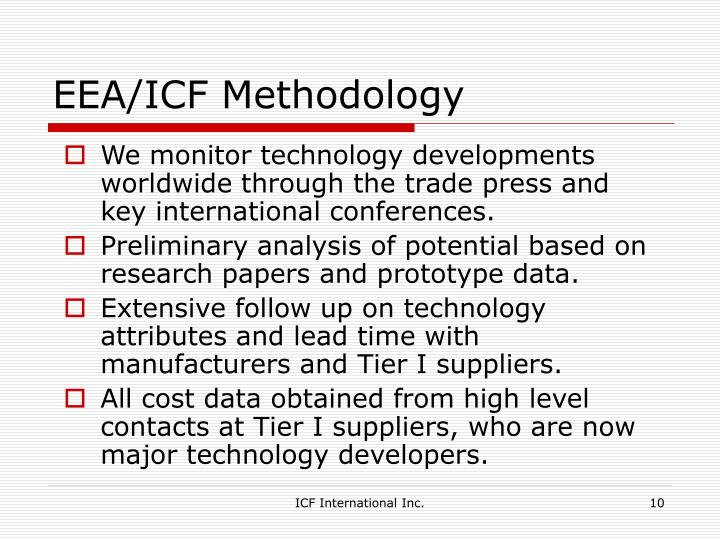 EEA/ICF Methodology