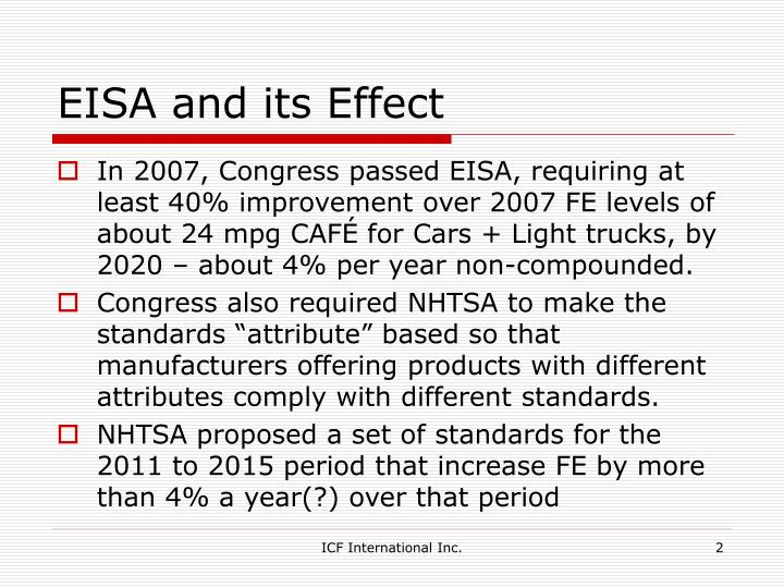 Eisa and its effect
