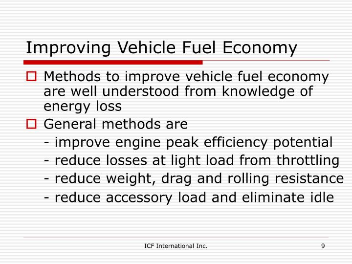 Improving Vehicle Fuel Economy