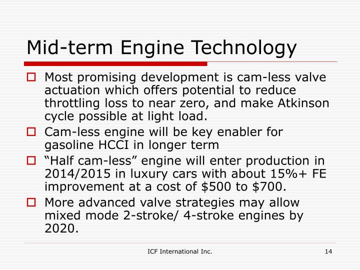 Mid-term Engine Technology
