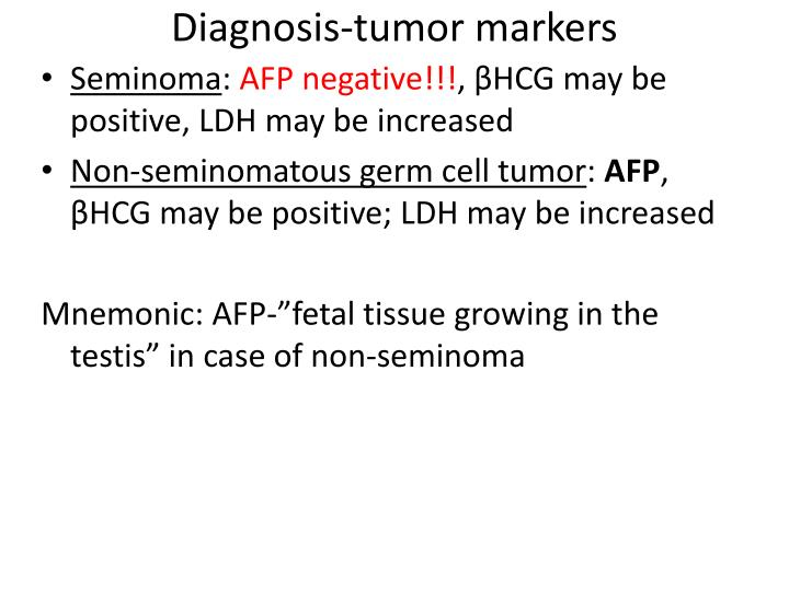 Diagnosis-tumor markers