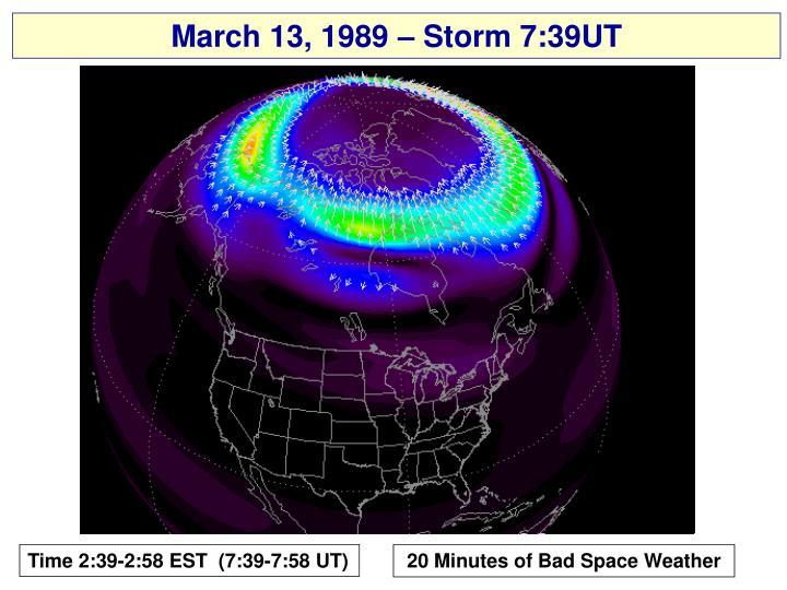 March 13, 1989 – Storm 7:39UT