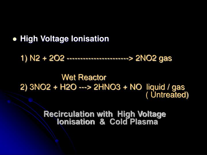 High Voltage Ionisation