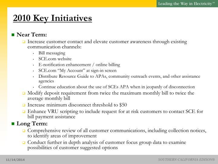 2010 Key Initiatives