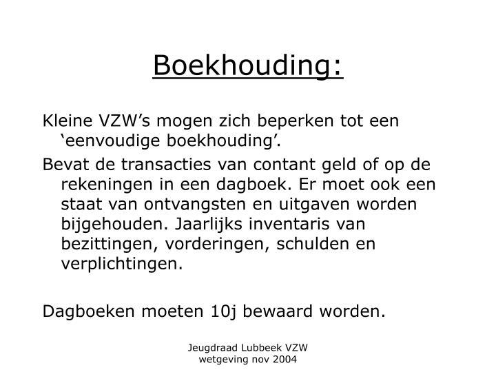 Boekhouding: