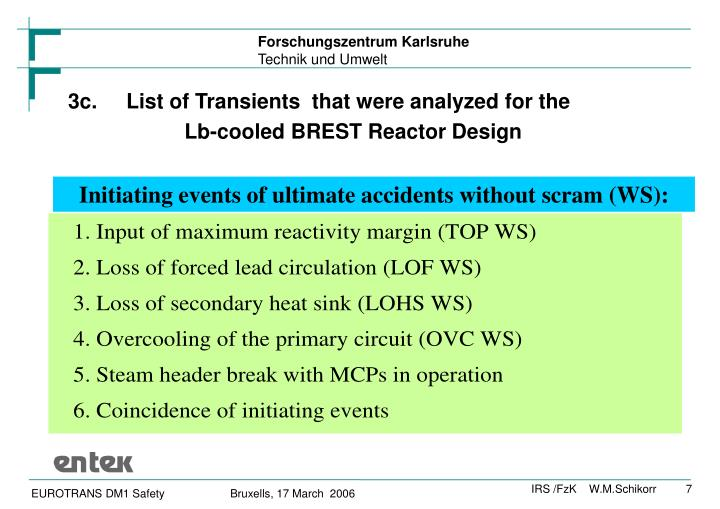 3c. List of Transients  that were analyzed for the