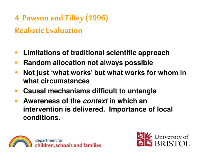 4  Pawson and Tilley (1996)