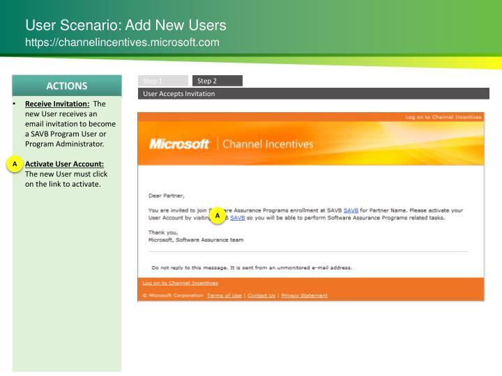 User Scenario: Add