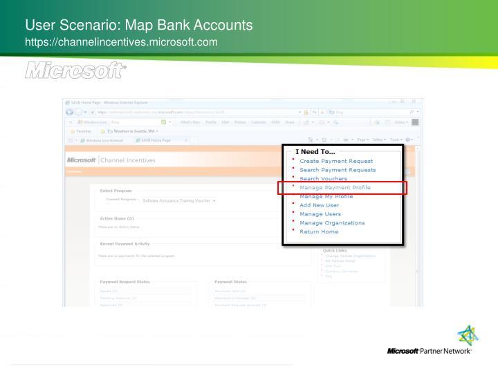 User Scenario: Map Bank Accounts