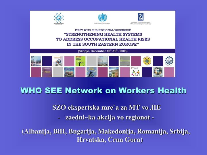 WHO SEE Network on Workers Health