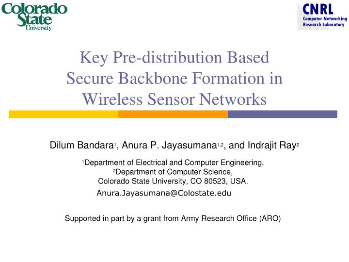 Key pre distribution based secure backbone formation in wireless sensor networks