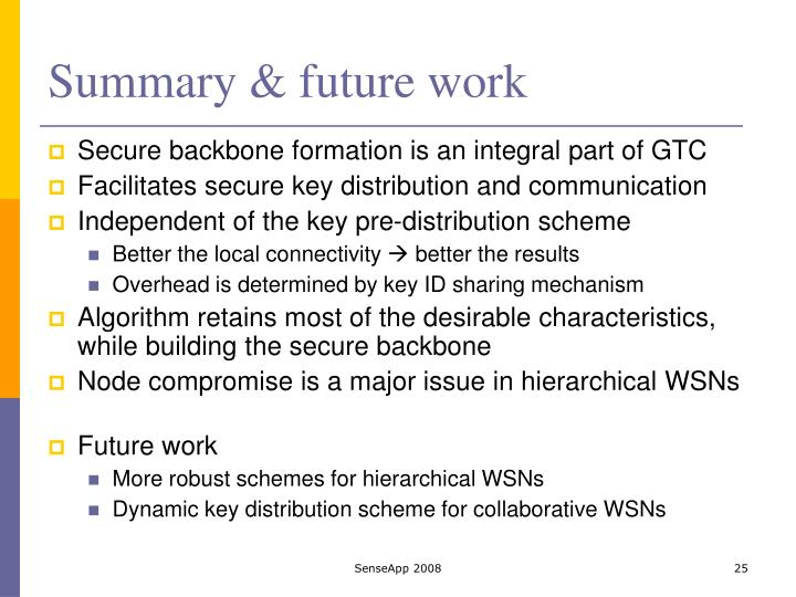 Summary & future work
