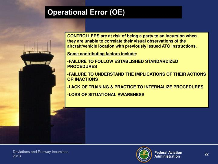 Operational Error (OE)