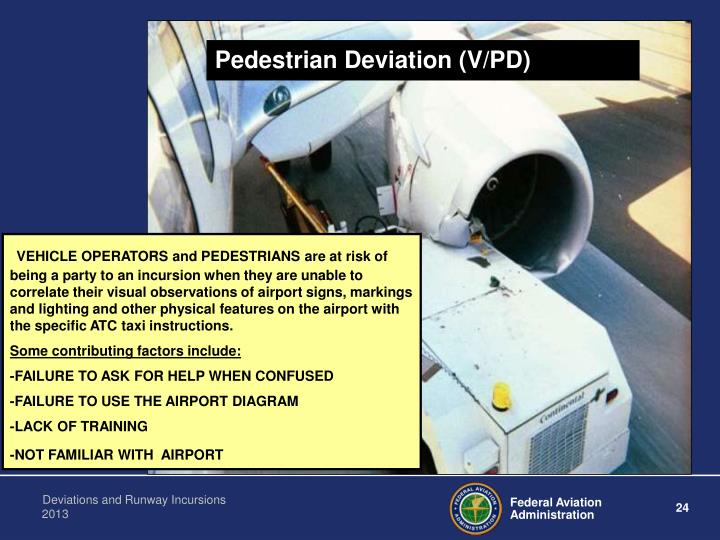 Pedestrian Deviation (V/PD)