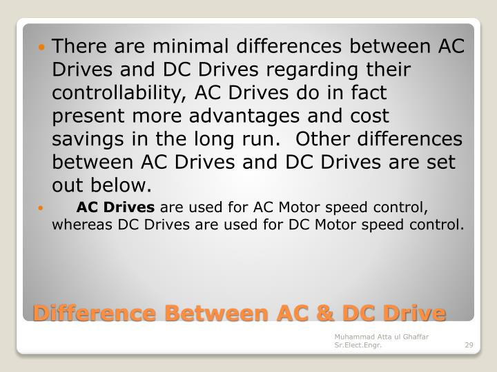 There are minimal differences between AC Drives